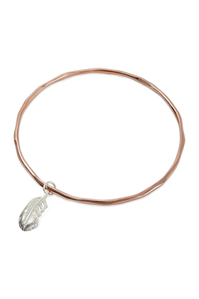 Feather Bangle Rose Gold