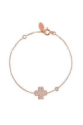 Rose Gold Plated Lucky Four Leaf Clover Bracelet