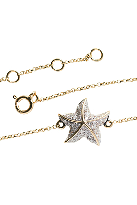 18kt Yellow Gold Starfish Bracelet