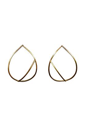 Yellow Gold Plated Sterling Silver Teardrop Earrings
