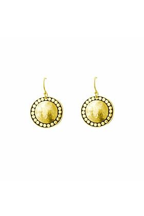 Gold Marrakech Hanging Disc Earrings
