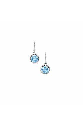 Bloomsbury White Gold Blue Topaz Coronation Drop Earrings