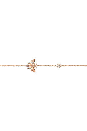 Rose Gold Plated Silver Queen Bee Bracelet