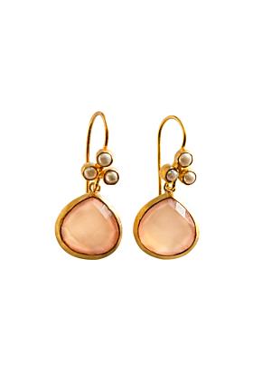 Faceted Rose Quartz Earrings