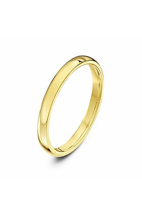 9kt Yellow Gold Heavy Court-Shape Wedding Ring