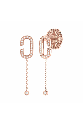 14kt Rose Gold Plated Celia C Drop Earrings