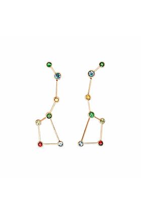 Rose Gold & Multi-Gemstone Osa Mayor Drop Earrings | Jaime Moreno