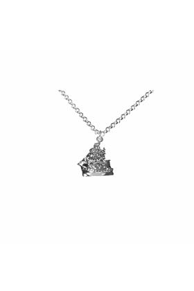 Silver Clipper ship Necklace