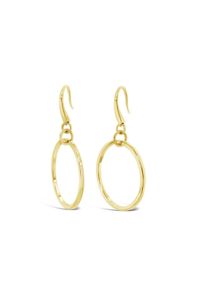 Yellow Gold Plated Remsen Earrings