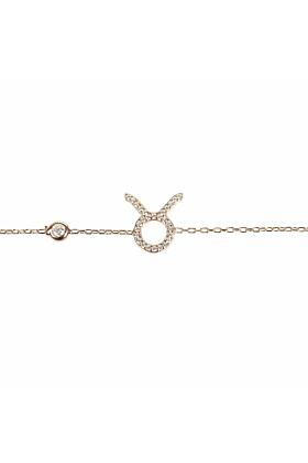 Taurus Zodiac Bracelet Rose Gold