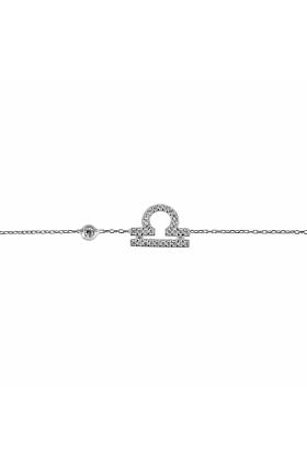 Libra Zodiac Bracelet Silver
