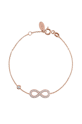 Rose Gold Plated Eternity Bracelet