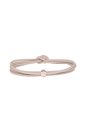 Leather Panna Mini Bracelet With Rose Gold & Silver