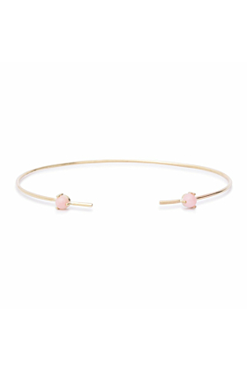 Double Rose Opal Bangle