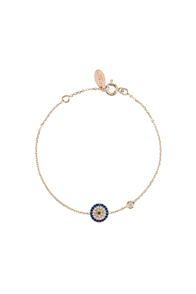 Rose Gold Plated Silver Evil Eye Bracelet