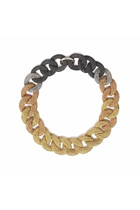 Goddess Ocean Link Twist Mixed 14kt Gold Filled Necklace
