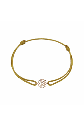 Rose Gold & Thread Manipura Bracelet | Tiny-Om