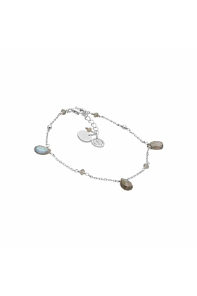 Cari Labradorite Silver Bracelet
