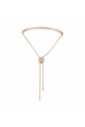Baguette Toggle Bracelet Rose Gold