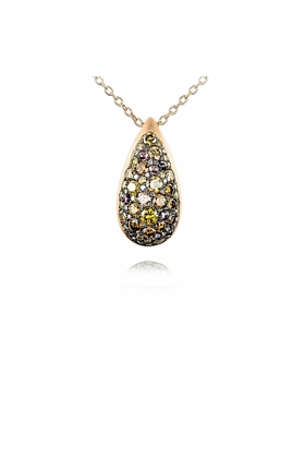 Starstruck Pendant With Brown And Yellow Diamonds