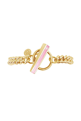 Gold Vermeil Bloom Bracelet With Bubble Gum Resin
