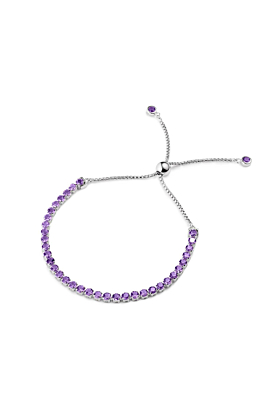 Sterling Silver Wanli Amethyst Bracelet