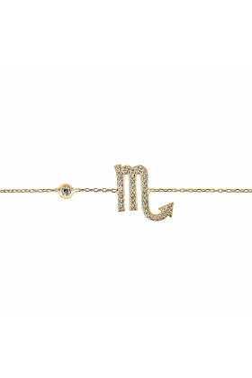 Scorpio Zodiac Bracelet Gold