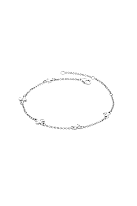 Rhodium Plated Splash Anklet