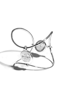Sterling Silver Ice Big Bracelet