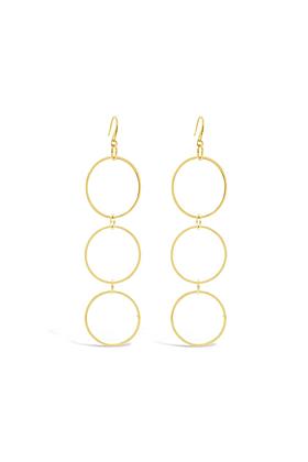 Yellow Gold Plated Carlisle Earrings