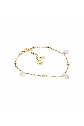 Cari Gold Vermeil Rose Quartz Bracelet
