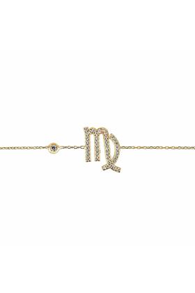 Virgo Zodiac Bracelet Gold