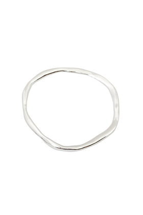 Sterling Silver/Yellow Gold Plated Unity Medium Bangle