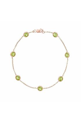 Pimlico Rose Gold Peridot Raindrop Bracelet