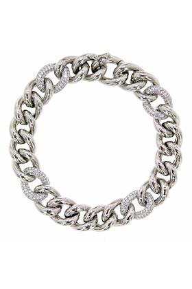 Rhodium Plated Sterling Silver Essential 4-Link Bracelet