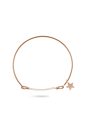 9kt Rose Gold Oro Rosa Stellina Bracelet
