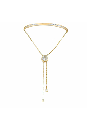 Baguette Toggle Bracelet Yellow Gold and Diamonds