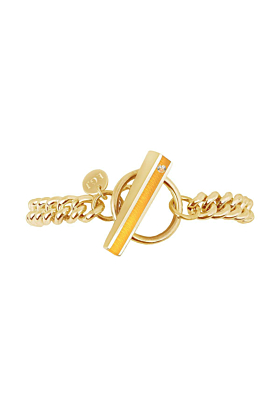 Gold Vermeil Bloom Bracelet With Marmalade Resin