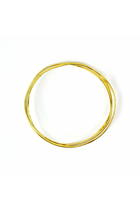 Wave Vermeil 3 Tier Bangle