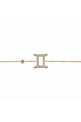 Gemini Zodiac Bracelet Gold