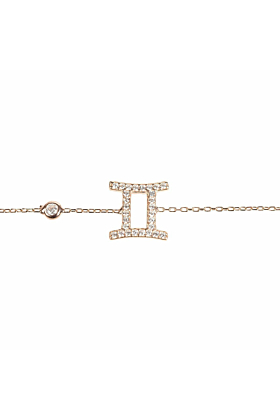 Gemini Zodiac Bracelet Rose Gold