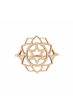 Rose Gold Anahata Ring | Tiny-Om