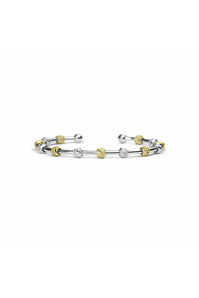 Laurel Silver and Gold Two-Tone Bracelet