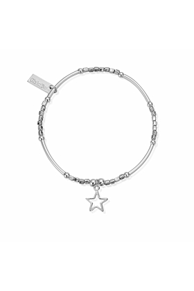 Mini Noodle Cube Small Open Star Charm
