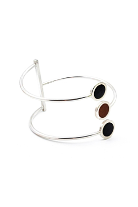 Sterling Silver & Leather Cuff Bracelet