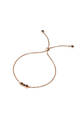 18kt Rose Gold Vermeil San Shi Garnet Bracelet