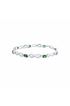 Green Tourmaline Infinity Bracelet