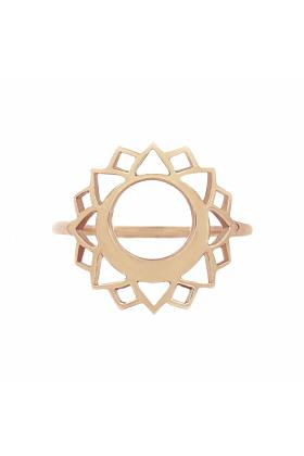 Rose Gold Vishuddha Ring | Tiny-Om