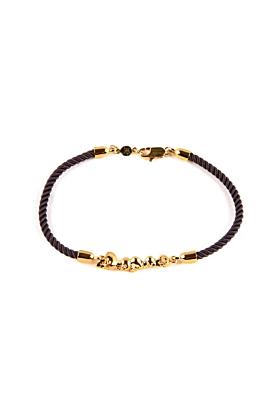 Gold Chattering Skull Stack Bracelet