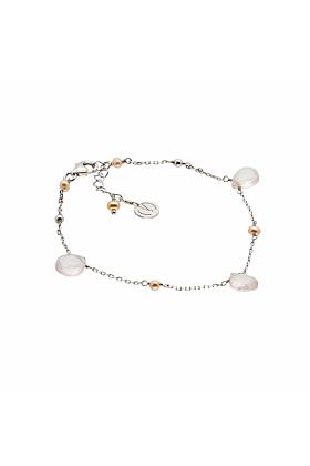 Cari Rose Quartz Silver Bracelet